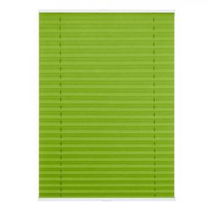 Lichtblick Plissee Klemmfix TOP, ohne Bohren, verspannt Grün, 90 cm x 130 cm (B x L)