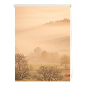 Lichtblick Rollo Klemmfix, ohne Bohren, blickdicht, Toskana - Orange Braun, 120 x 150 cm (B x L)