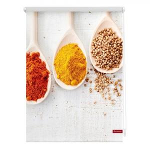 Lichtblick Rollo Klemmfix, ohne Bohren, blickdicht, Spices - Bunt, 120 x 150 cm (B x L)