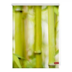 Lichtblick Rollo Klemmfix, ohne Bohren, blickdicht, Bambus - Grün, 100 x 150 cm (B x L)