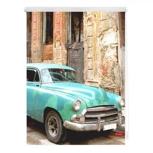 Lichtblick Rollo Klemmfix, ohne Bohren, blickdicht, Kuba - Türkis Braun, 120 x 150 cm (B x L)
