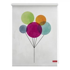 Lichtblick Rollo Klemmfix, ohne Bohren, blickdicht, Ballon - Bunt, 100 x 150 cm (B x L)
