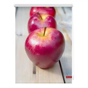 Lichtblick Rollo Klemmfix, ohne Bohren, blickdicht, Apfel - Rot, 120 x 150 cm (B x L)