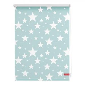 Lichtblick Rollo Klemmfix, ohne Bohren, blickdicht, Sterne - Blau, 90 x 150 cm (B x L)