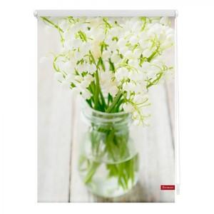 Lichtblick Rollo Klemmfix, ohne Bohren, blickdicht, Maiglöckchen - Weiß, 90 x 150 cm (B x L)