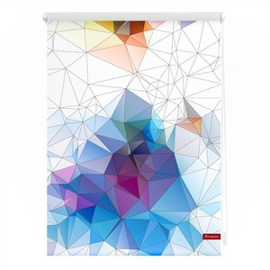 Lichtblick Rollo Klemmfix, ohne Bohren, blickdicht, Grafik - Bunt, 90 x 150 cm (B x L)