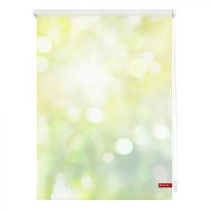 Lichtblick Rollo Klemmfix, ohne Bohren, blickdicht, Lichtspiel - Grün Gelb, 80 x 150 cm (B x L)