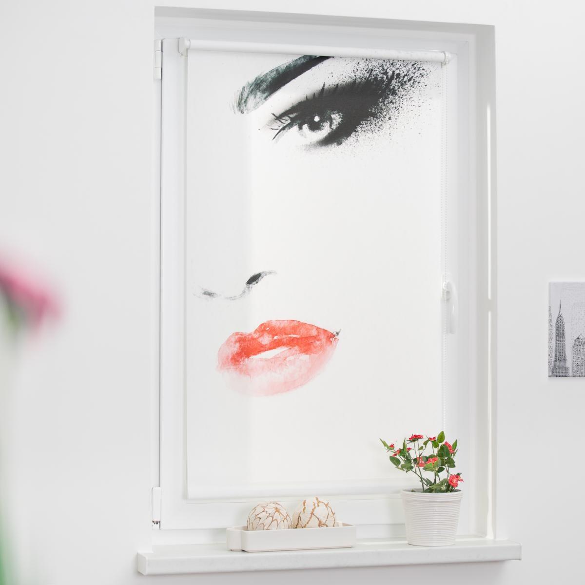 Bild 2 von Lichtblick Rollo Klemmfix, ohne Bohren, blickdicht, Face - Weiß, 60 x 150 cm (B x L)