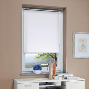 Bella Casa Mittelzug-/Springrollo, ca. 130 x 100 cm, Weiß