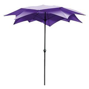 Sonnenschirm Blossom - Stahl/Polyester - Anthrazit/Violett, Leco