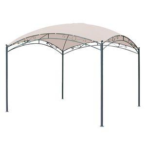 Pavillon Trend - Webstoff / Stahl - Creme / Anthrazit, Leco