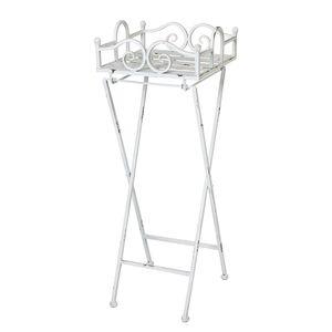 Beistelltisch Riso II - Metall - Vintage Weiß, Home Design