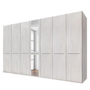 Drehtürenschrank Madrid - Weißeiche Dekor - 350 cm (7-türig) - 1 Spiegeltür - Ohne Passepartoutrahmen, Wiemann