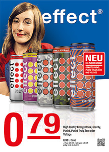 Effect High Quality Energy Drink, Gravity, Pushd, Pushd Truly Zero oder Voltage