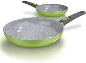 BRATmaxx Keramik-Pfannen Granit-Optik 2tlg grün