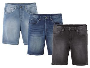 LIVERGY® Herren Sweat-Denim-Shorts