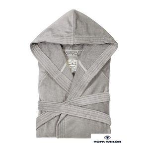 Bademantel Basic Velours V - XXL, Tom Tailor