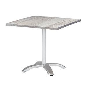 Klapptisch Maestro - Aluminium/Werzalit - Silber/Montpellier Dekor - 80 x 80 cm, Best Freizeitmöbel