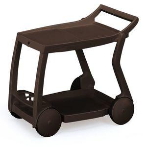Servierwagen Galileo - vollklappbar - Kunststoff - Braun, Best Freizeitmöbel