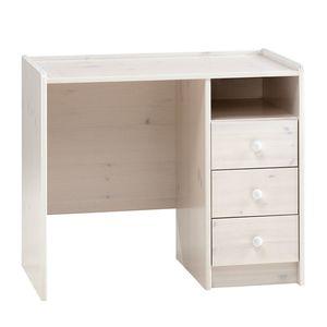 Schreibtisch Steens for Kids - Kiefer massiv - Weiß, Steens