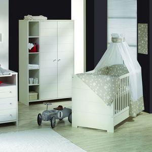 Babyzimmer Eco Stripe (4-teilig) - Weiß, Schardt