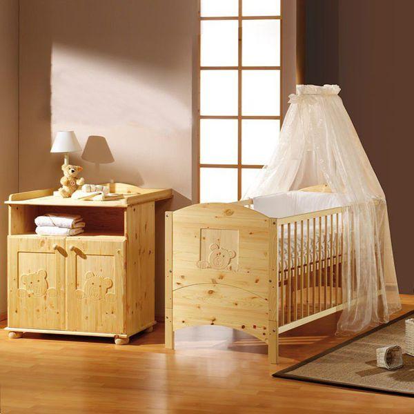 Babyzimmer Dream (2-teilig) - Kiefer massiv, Schardt