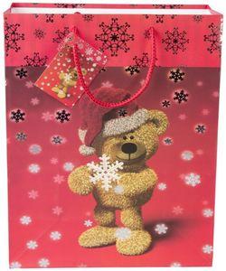 Geschenktasche - Weihnachtsbär - verschiedene Größen