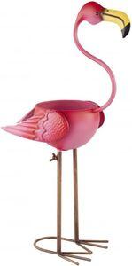 Pflanzgefäß - Flamingo - aus Metall - 26,5 x 16,5 x 59 cm