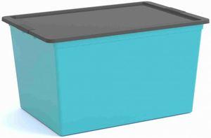 Ordnungsbox mit Deckel - XL - blau/grau