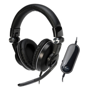 MEDION X83051 USB Headset mit integrierter Soundkarte, 5.1 Surround Klang, Integriertes Mikrofon mit Rauschunterdrückung