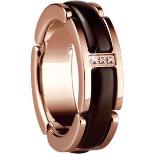 Bering Ring, Edelstahl, braun, 62