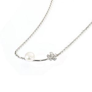Adriana Süßwasser-Zuchtperlen Kette, 925er Silber