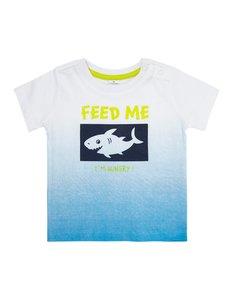 Newborn T-Shirt mit Flock-Print