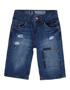 Jungen 5-Pocket-Jeansshorts im Destroyed Look