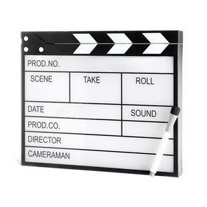 Leuchtobjekt Filmklappe, 23x4x30cm, schwarz