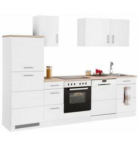 HELD MÖBEL »Perth« Küchenzeile mit E-Geräten, Breite 270 cm mit zweifarbiger Front
