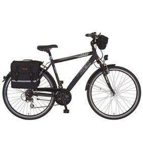 REX Bike Trekkingrad »Expedition«, 24 Gang Shimano Acera Schaltwerk, Kettenschaltung, (Set, mit Lenkertasche)