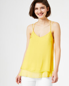 Layer-Top aus Seidenchiffon