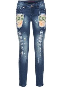 Bunte Jeans in Used-Optik
