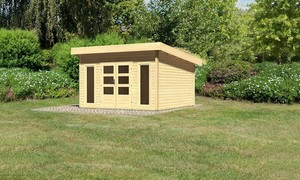 "Woodfeeling Gartenhaus ""Bentheim 5"" mit Dacheindeckung naturbelassen"