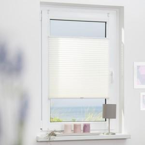 Lichtblick Plissee Klemmfix, ohne Bohren, verspannt - Weiß, 45 cm x 130 cm (B x L)
