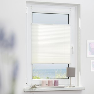 Lichtblick Plissee Klemmfix, ohne Bohren, verspannt - Weiß, 60 cm x 210 cm (B x L)