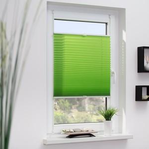 Lichtblick Plissee Klemmfix, ohne Bohren, verspannt - Grün, 120 cm x 130 cm (B x L)