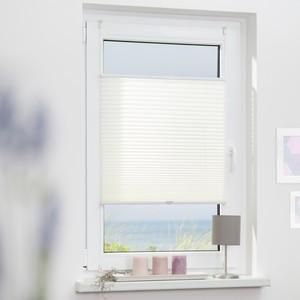 Lichtblick Plissee Klemmfix, ohne Bohren, verspannt - Weiß, 60 cm x 130 cm (B x L)