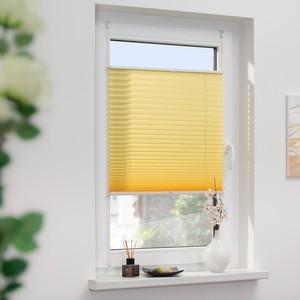 Lichtblick Plissee Klemmfix, ohne Bohren, verspannt - Gelb, 90 cm x 210 cm (B x L)