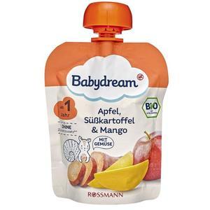 Babydream Bio Apfel, Süßkartoffel & Mango 0.77 EUR/100 g (10 x 90.00g)