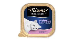 Miamor Katzennassfutter Milde Mahlzeit Geflügel Pur & Schinken