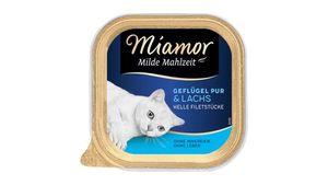 Miamor Katzennassfutter Milde Mahlzeit Geflügel Pur & Lachs