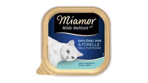 Miamor Katzennassfutter Milde Mahlzeit Geflügel Pur & Forelle