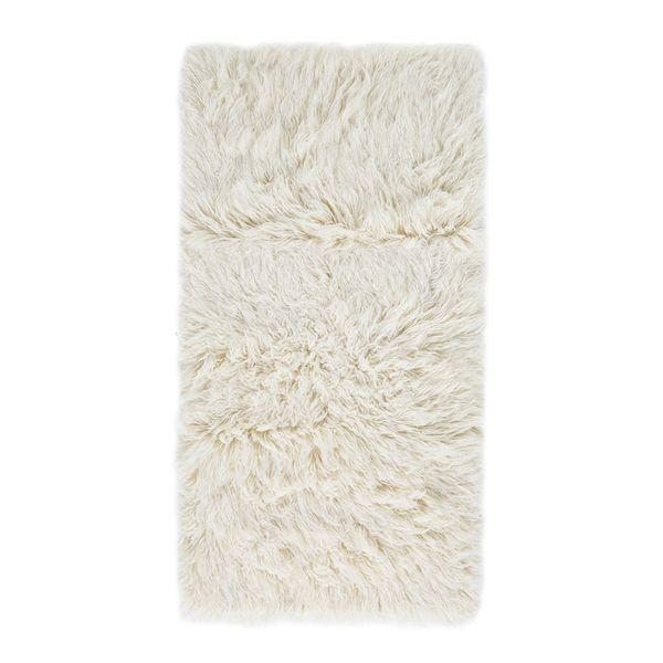 Teppich Flokati Wolle Weiss 160 X 230 Cm Andiamo Von Home24